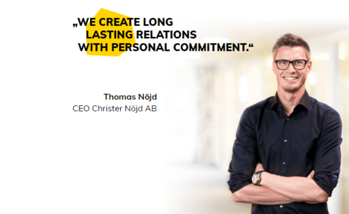 CEO of Christer Nöjd AB, Packaging Company of Norway